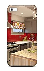 meilz aiaiNew Design Shatterproof NvuuXgX4078behTv Case For iphone 4/4s (gray Cabinetry With Red Backsplash In Fun Kitchen)meilz aiai