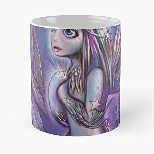 Wings Fae Faery Fairy - 11 Oz Coffee Mugs Unique Ceramic Novelty Cup, The Best Gift For Holidays.