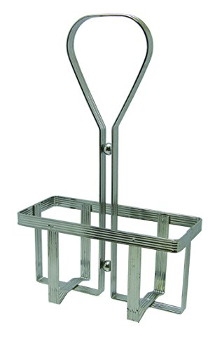 Oil Dlx - Update International OV-HDR/DLX Deluxe Oil and Vinegar Holder, Stainless Steel Chrome Plated Metal Wires