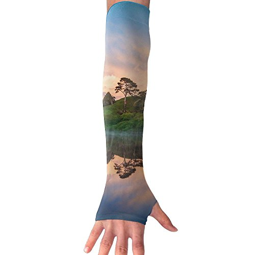 Trees Lake Reflections UV Protection Cooler Arm Sleeves Unisex Men Women Sun Protection Arm Cover Sleeve For Bike/Hiking/Running/Golf 1 Pair by PengMin