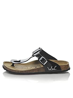 World Walker Licensed by Birkenstock Sandalo Tess Patent (Nero) 4b374f511d6