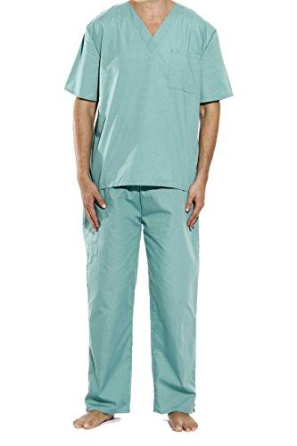 33000M-Teal-M Tropi Unisex Scrub Sets / Medical Scrubs / Nursing Scrubs