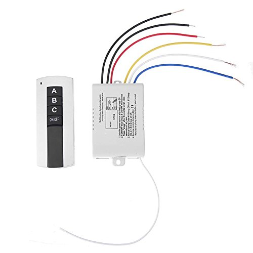 ERTIANANG 220V 3 Ways ON/Off Wireless Digital Remote Control 3H Wireless Digital Remote Control Switch for Exhaust Fan Lamp Light