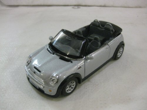 Mini Cooper S Convertible In Gray Diecast 1:28 Scale By Kinsmart from diecast 128 scale