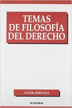 Temas de filosofía del derecho (Manuales (Universidad de Navarra. Facultad de Derecho))