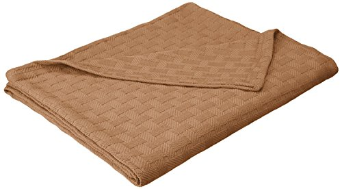 - Superior 100% Cotton Thermal Blanket, Soft and Breathable Cotton for All Seasons, Bed Blanket and Oversized Throw Blanket with Luxurious Basket Weave Pattern - Full/Queen Size, Taupe