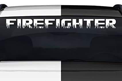 amazon com sticky creations firefighter flame font flaming fire