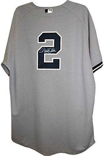 Derek Jeter Road Jersey - Derek Jeter Signed Jersey - NY Yankees 2012 Game Worn #2 Road Jersey (4-25-2012) (0000001885) (FJ860625) (48) (2-4 2 Singles)