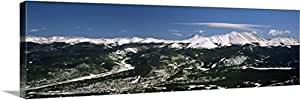 Canvas On Demand Premium Thick-Wrap Canvas Wall Art Print entitled High angle view of a city in a valley, Breckenridge, Colorado