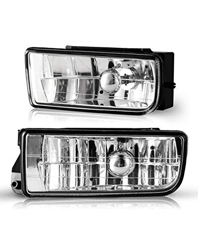AUTOFREE OEM Fog Lights for BMW M3 (E36) 3 Series 1992 1993 1994 1995 1996 1997 1998 1999, Lamps Replacement Assembly with H1 12V 55W Bulbs-1 Pair (Clear lens) (Bmw Fog Lights E36)