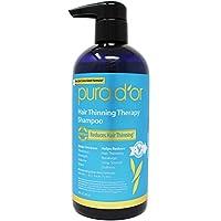 PURA D'OR Champú para adelgazamiento del cabello para la prevención, infundido con aceite de argán, biotina e ingredientes naturales, sin sulfato, todo tipo de cabello, hombres y mujeres, 16 fl oz (el empaque puede variar)