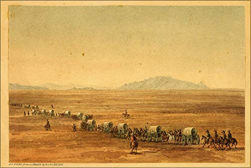 (FemiaD 18x24 Poster- Wall Art Crossing The Great Salt Lake Desert from Simpson'S Spring to Short Cut Pass, Granite Mountain in The Distance. 1859 )