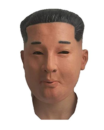 Kim Jong Mask by Rubber Johnnies , Korean Ruler , Rocketman, Ruller, One Size