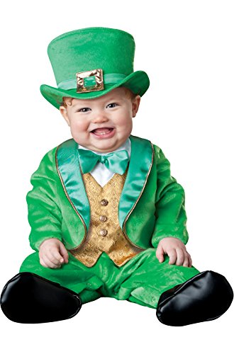 (InCharacter Costumes Baby's Lil' Leprechaun Costume, Green/Gold/White, Small (6 Months-12)