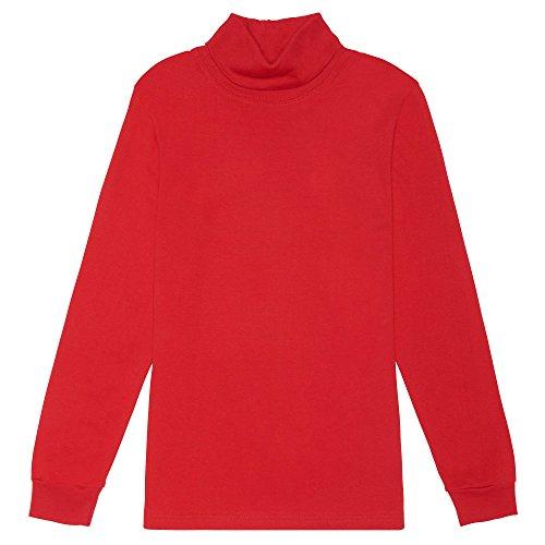 French Toast Boys' Long Sleeve Basic Turtleneck T-shirt, Red, XL (14/16),Big Boys Boys Long Sleeve Turtleneck