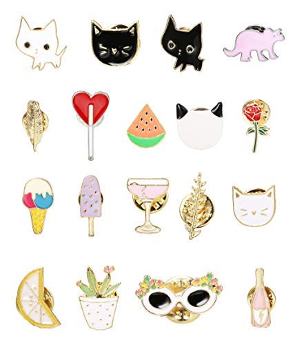 Lapel Pins Metal Badges Fashion Jewelry Cartoon Animal Enamel Pin Button Corsage Cat Brooches Funny Bag Decor Arts,crafts & Sewing Badges