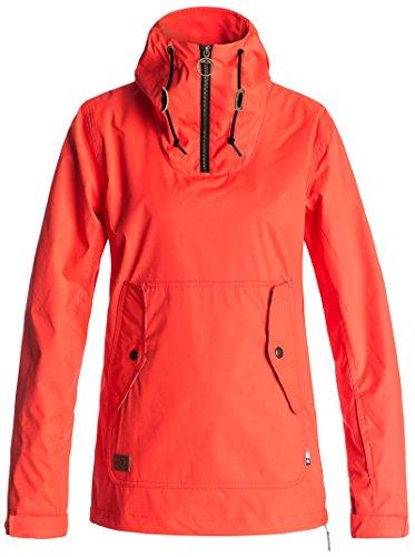 - DC Women's Skyline Pullover Snow Jacket, Fiery Coral, L
