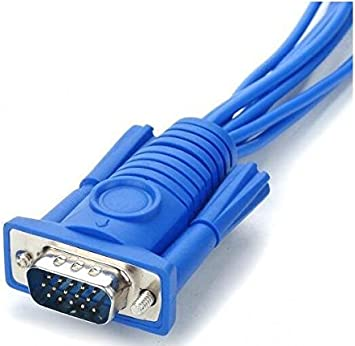 BW 25 cm-lunghezza VGA 15Pin male a 8 BNC Connettori Femmina per CCTV