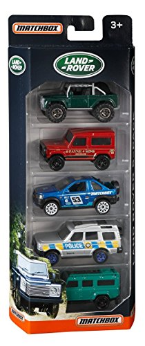 Matchbox 2017 Land Rover 1:64 Scaled 5-Pack by Mattel