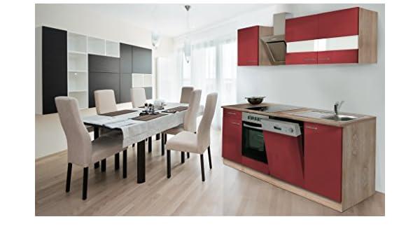 respekta Instalación de Cocina Cocina 220 cm Roble Frontal ...