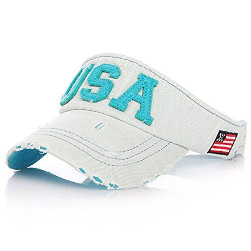Thenice Kid's Summer Visor Unisex-child Sports Outdoor Sun Cap (Blue) for $<!--$9.99-->