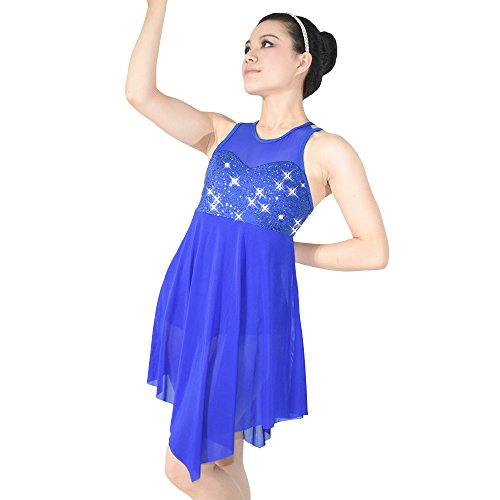 [MiDee Stage Dance Costume Dress for Children and Adults 5 colors 10 sizes available (LC, Royal] (Dance Costumes For Adults)
