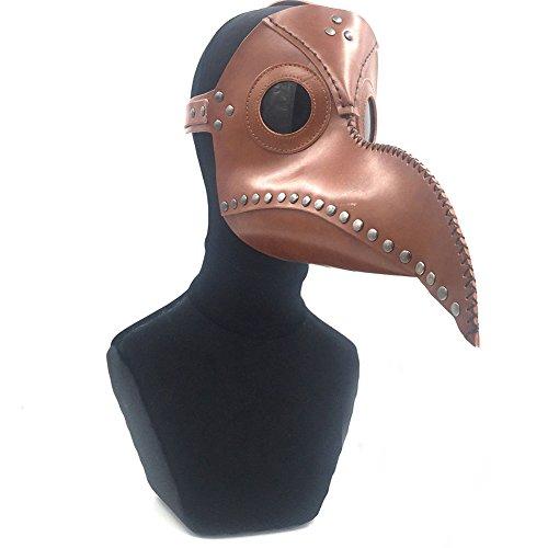 Halloween Oiseau Médecin Cuir Bouche Masque Nez Espace Nez Accessoires Costume Long peste zaH1yw