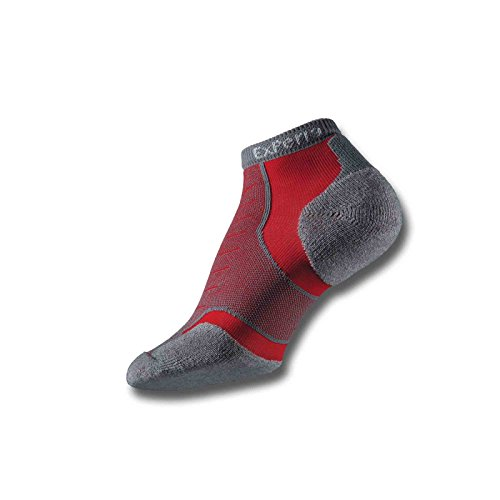Thorlo Men's Experia CoolMax Micro Mini Crew Sock, Sunrise Red, - Thorlo Mini Coolmax