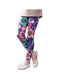 Norbi Childrens Kids Girls Floral Print Pants Slim Fall Leggings Tights