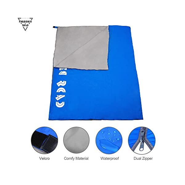 Forbidden Road Double Sleeping Bag 15 60 2 Person Waterproof Lightweight Envelope Sleeping Bags 380T Nylon With Free Carrying Bag Perfect For Spring Summer Fall Camping Backpacking Hiking