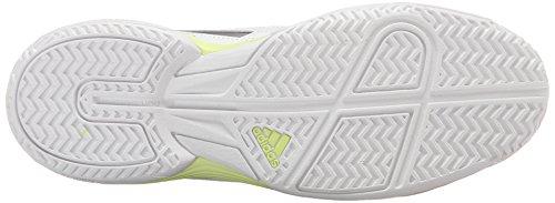 Adidas rendimiento acústico Ataque del zapato corriente, blanco / verde equipos / resplandor verde, White/Tech Silver/Metallic Frozen Yellow