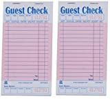 Royal - GCP3632-1-IN Pink Guest Check Board, 1 Part Booked with 15 Lines, Package of 10 Books (Twо Pаck, Pink)