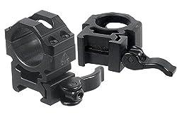 """UTG 1""""/2PCs Med Pro LE Grade Picatinny QD Rings: 22mm Wide"""