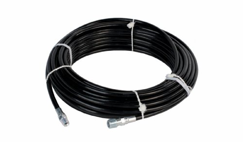 Sewer Jetter Hose 4800 PSI 1/8'' x 50' Black Thermoplastic Weather Resistant by Schieffer Co.