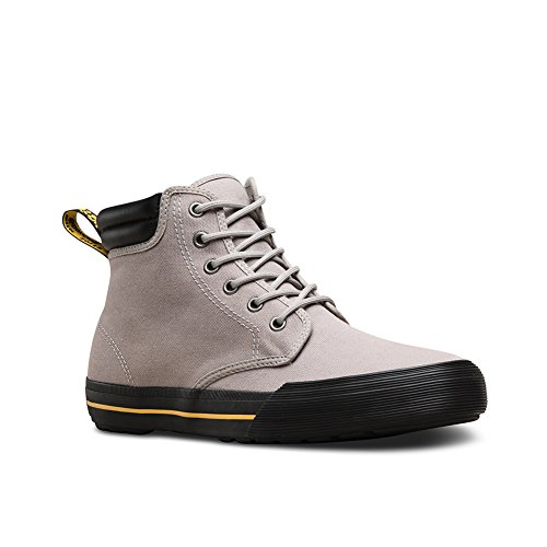 Dr Greasy Mid Shoes Lamper Martens eyelet 6 Mens Eason Canvas Leather Grey TqgfTBZw