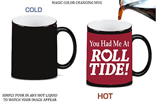 Yo Had Me at Roll Tide Alabama Magic Color Morphing Ceramic Coffee Mug Tea Cup by Debbie's Designs -