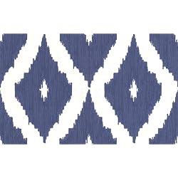 Graham & Brown Kelly Hoppen Style Kellys Ikat Wallpaper, Blue/White