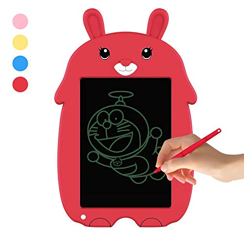 Doosl LCD Writing Tablet -Doodle Board for Kids 8.5″ Electronic Writing & Drawing Board – Kids Gift for Girls/Boys, Handwriting Paper Drawing Tablet Home & School Use (Red)