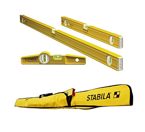(Stabila 3-Level Magnetic Pro-Set with 5-Pocket Case for Torpedo Level)