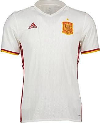 Camiseta Selección Española Away Mundial 2016-2017 White-Red Talla S: Amazon.es: Deportes y aire libre