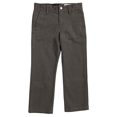 (Volcom Little Boys Frickin Modern Stretch Pant, Charcoal Heather, 7)