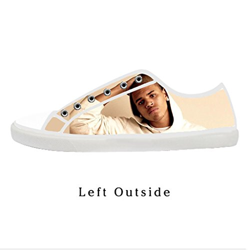 Custom Women Chris Brown Canvas Shoes Comfortable Sneakers US7