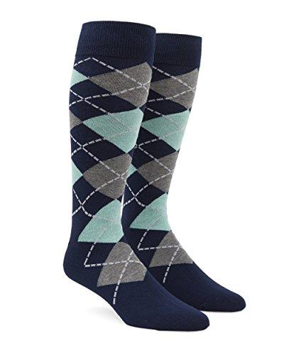 The Tie Bar Argyle Spearmint Men's Cotton Blend Dress (Argyle Clip)