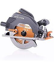 Evolution Power Tools 027-0003C Evolution elverktyg-R185CCS mångsidig cirkelsåg, 185 mm 230 V, 1600 W