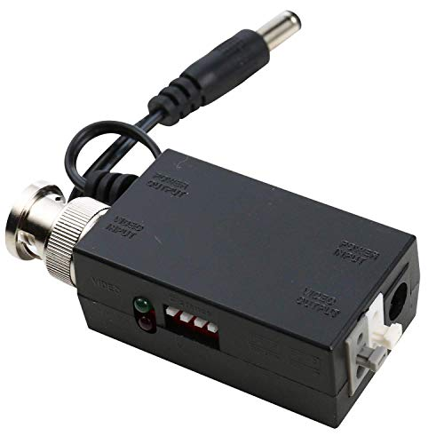 UHPPOTE DC12V 1CH Active UTP Video Transmitter Balun BNC for CCTV Camera DVR System