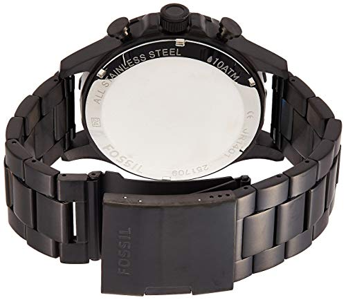 Fossil Men's Nate Stainless Steel Chronograph Quartz Watch 2