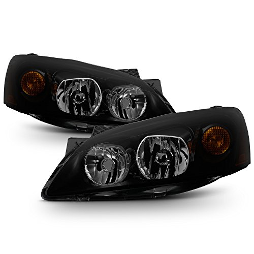 ACANII - For Black Smoke 2005-2010 Pontiac G6 GT Headlights Headlamps Aftermarket Driver + Passenger Side ()