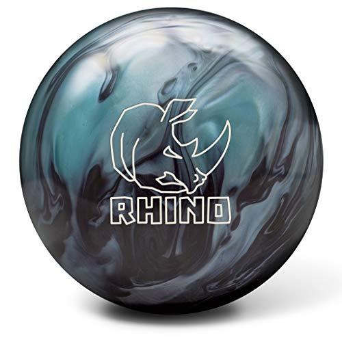 Brunswick-Rhino-Reactive-PRE-DRILLED-Bowling-Ball-Metallic-BlueBlack