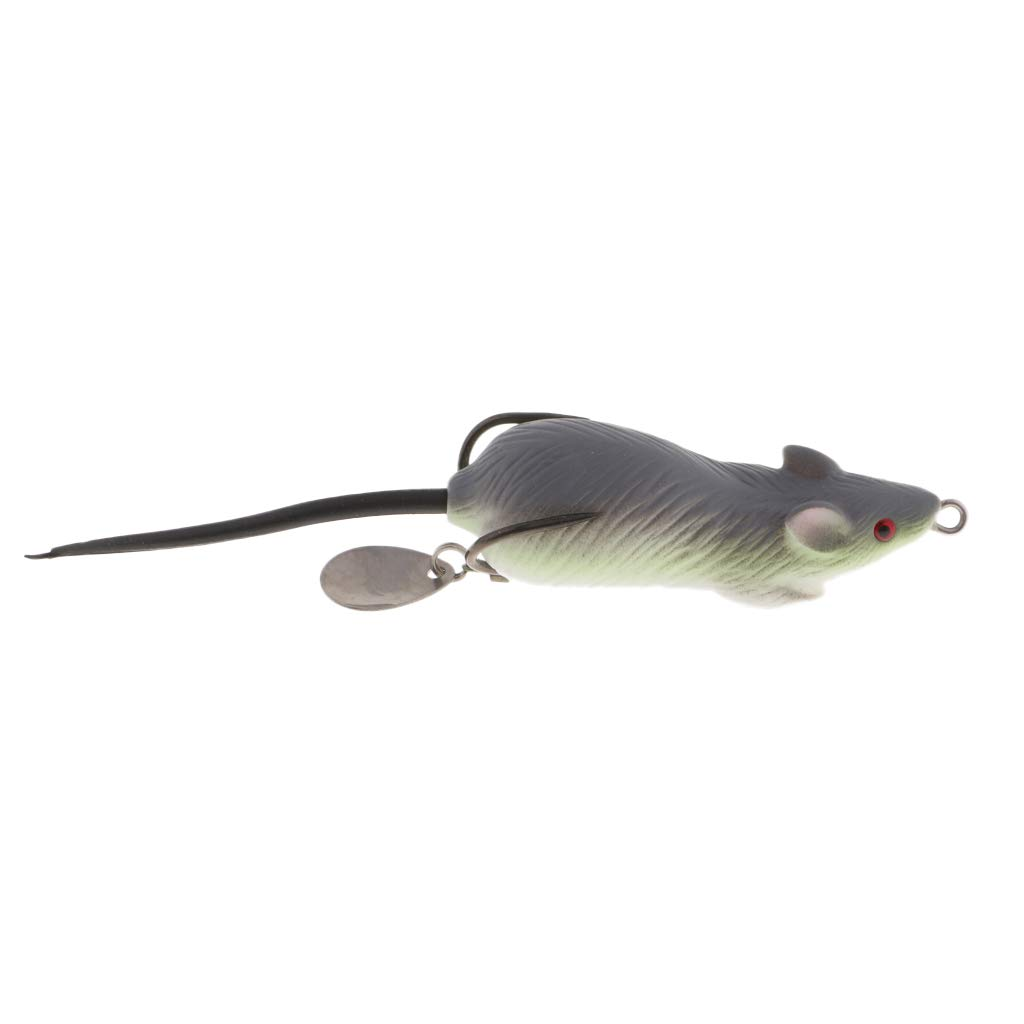 3D Eye Mice Bait Lure 12cm Mouse Fishing Lures Bass Bait Frog Topwater Lure