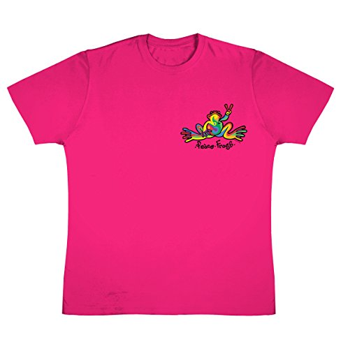 peace-frogs-retro-frog-youth-short-sleeve-licensed-t-shirt-heliconia-large